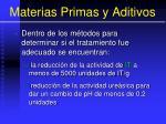materias primas y aditivos35