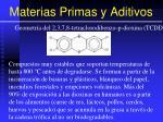 materias primas y aditivos58
