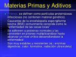 materias primas y aditivos59