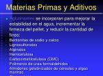 materias primas y aditivos88