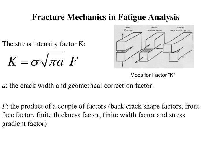 fracture mechanics in fatigue analysis n.