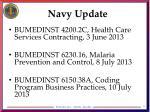 navy update
