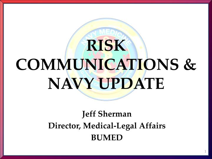 risk communications navy update n.