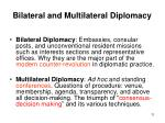 bilateral and multilateral diplomacy