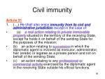 civil immunity
