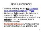 criminal immunity1
