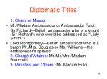 diplomatic titles