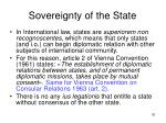 sovereignty of the state