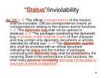 status inviolability1