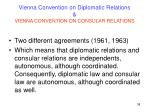 vienna convention on diplomatic relations vienna convention on consular relations