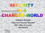 cheryl wieser supervisory security specialist doc office of security 206 526 6653
