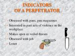 indicators of a perpetrator1