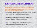 rational detachment