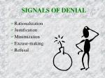 signals of denial