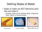 defining states of matter