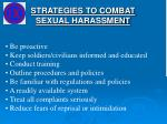 strategies to combat sexual harassment