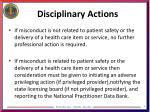 disciplinary actions1
