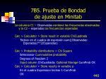 7b5 prueba de bondad de ajuste en minitab