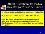 anova identificar las medias diferentes por prueba de tukey t1