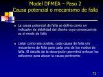 model dfmea paso 2 causa potencial o mecanismo de falla