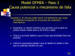 model dfmea paso 2 causa potencial o mecanismo de falla3