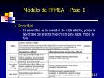 modelo de pfmea paso 15