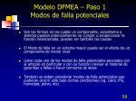 modelo dfmea paso 1 modos de falla potenciales