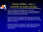 modelo dfmea paso 3 controles de dise o actuales