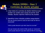 modelo dfmea paso 3 controles de dise o actuales3