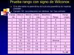 prueba rango con signo de wilconox