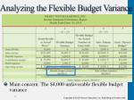 analyzing the flexible budget varianc e