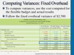 computing variances fixed overhead
