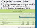 computing variances labor