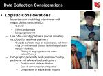 data collection considerations1