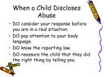 when a child discloses abuse