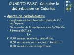 cuarto paso calcular la distribuci n de calor as