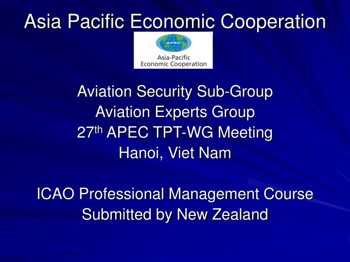 asia pacific economic cooperation n.