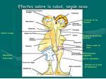 efectos sobre la salud seg n sexo