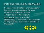 intervenciones grupales