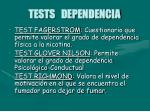tests dependencia
