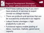 regional development strategies no place without economic drivers