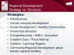 regional development strategy vs structure
