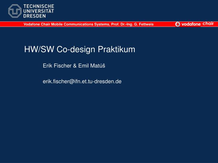 hw sw co design praktikum n.