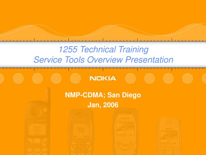 1255 technical training service tools overview presentation n.