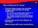 recruitment by issue