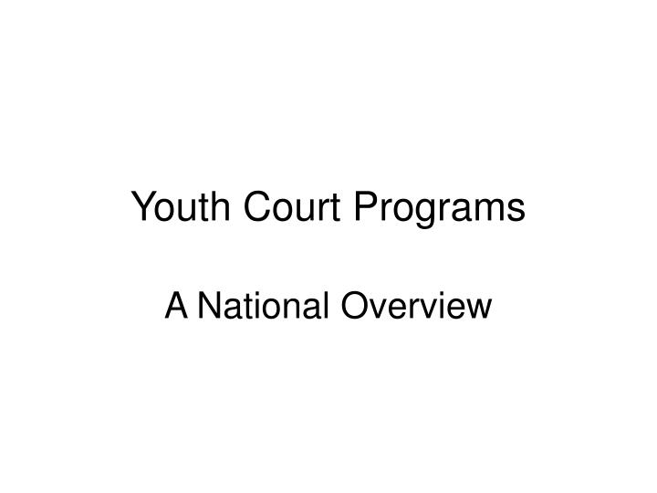 youth court programs n.