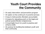 youth court provides the community
