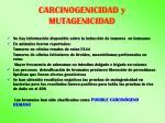 carcinogenicidad y mutagenicidad