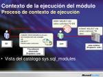 contexto de la ejecuci n del m dulo proceso de contexto de ejecuci n