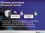 permisos granulares enfoque del servidor